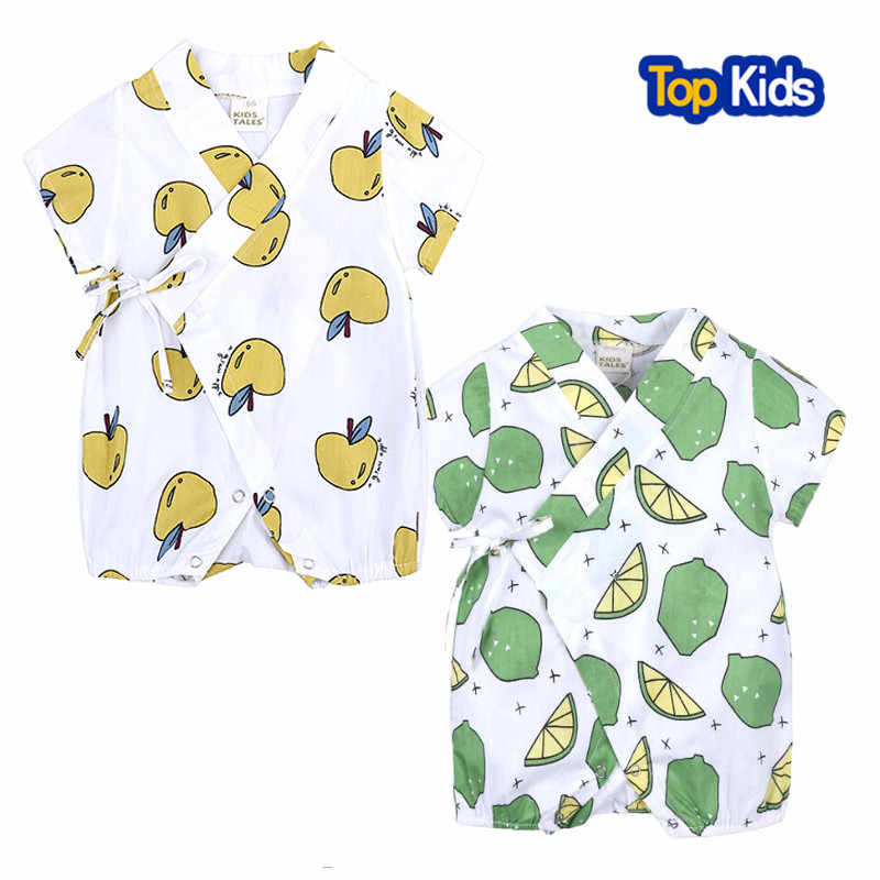 970e3736f5c Fruit Floral Japanese Kids clothes Kimono Summer Baby clothing Girl Boy  Rompers Cotton Casual Tracksuit Infants