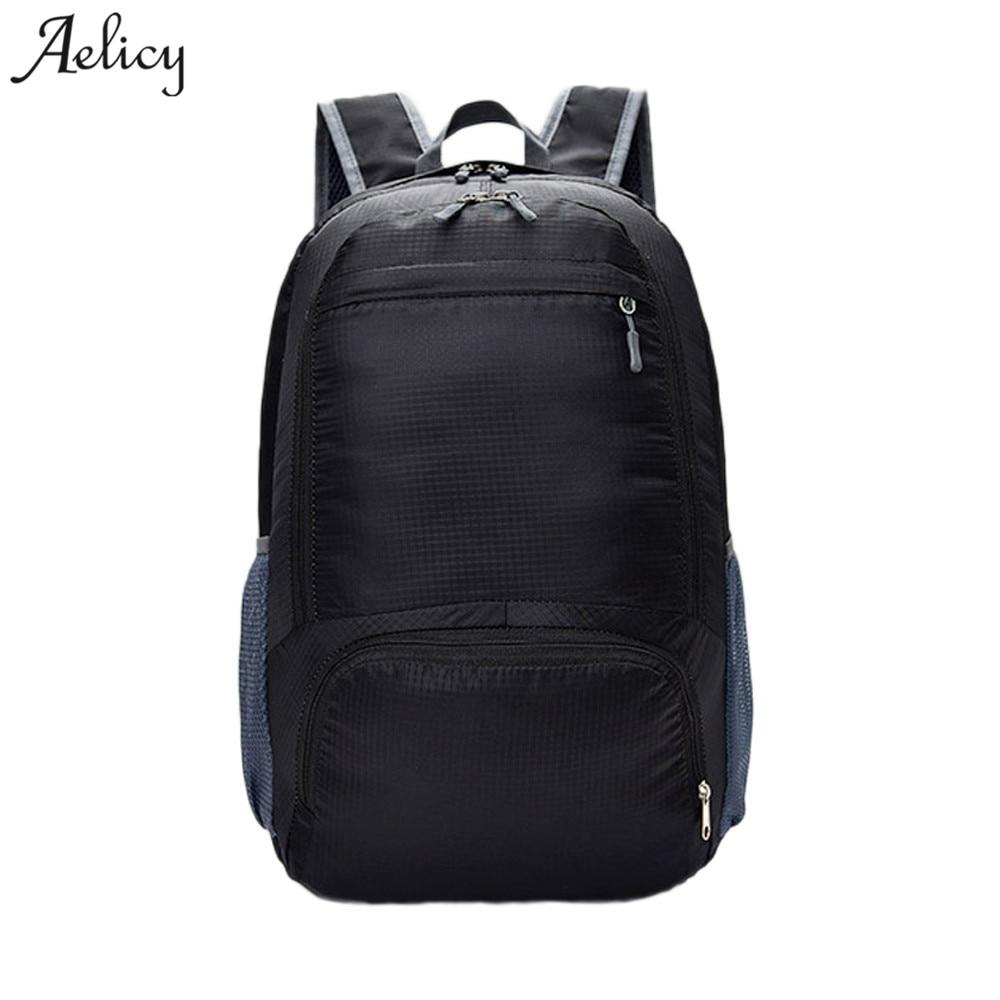 Aelicy Llightweight Foldable Waterproof Nylon Backpacks Men Women Nylon Backpack Shoulder Bag Travel Backpack Men Mochila ...
