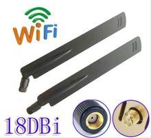 OSHINVOY 2.4g SMA antenna wifi module high gain 18dBi rubber antenna indoor wifi wireless router antenna