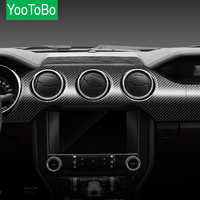 YOOTOBO For Mustang Carbon Fiber Dashboard Instrument Panel Car Stickers and Decals Trim Cover Car Styling 2015 2019 Accessories