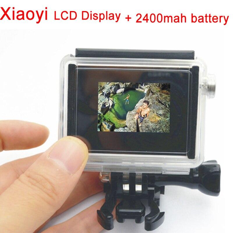 Xiaomi Yi LCD Display + Waterproof Housing Case + xiaoyi 2400Mah Battery +BacPac Backdoor FOR Xiaoyi Mount with Gopro accessory