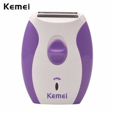 Kemei Electric Women Shaver Razor Trimmer Rechargeable Hair