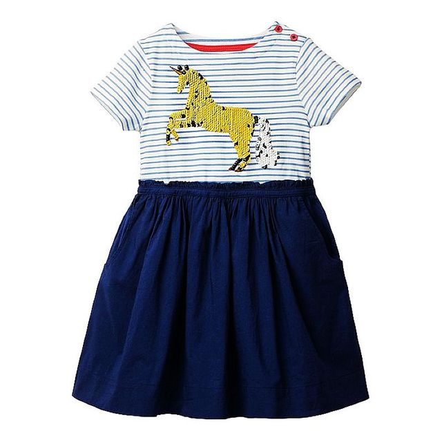 Girls Dress Unicorn 2019 Summer Baby Girl Clothes Kids Dresses for Girls Costume Striped Animal Pattern Princess Dress Vestidos