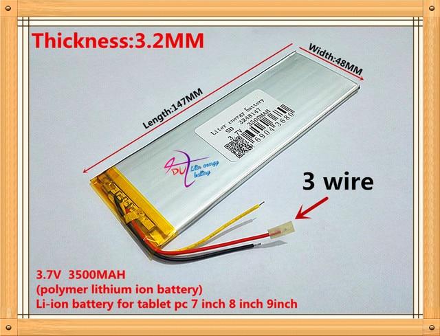 new polymer batteries 3248147 3500mAh 3.7V thium battery Irbis tx18 ...
