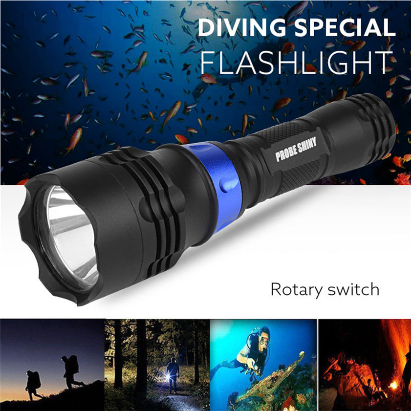 High Quality Underwater 500M 5000LM XM L T6 LED Diving Flashlight Waterproof Torch