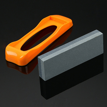 Professional Kitchen Knife Sharpener Stone Double Side Brown Corundum Whetstone Grindstone Japanese Sharpening Tool With Holder high quality multi functional durable sharpening stone knife sharpener razor sharpener polishing whetstone grindstone sharpening