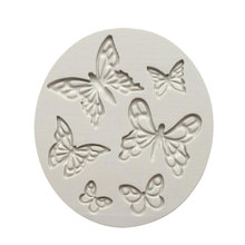 1Pcs Pansies Daffodils & Butterfly Silicone flower Mold