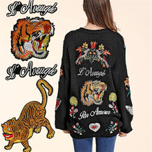 Baratos Compra Large Patches Embroidered De Lotes Animal BWQoerdxC