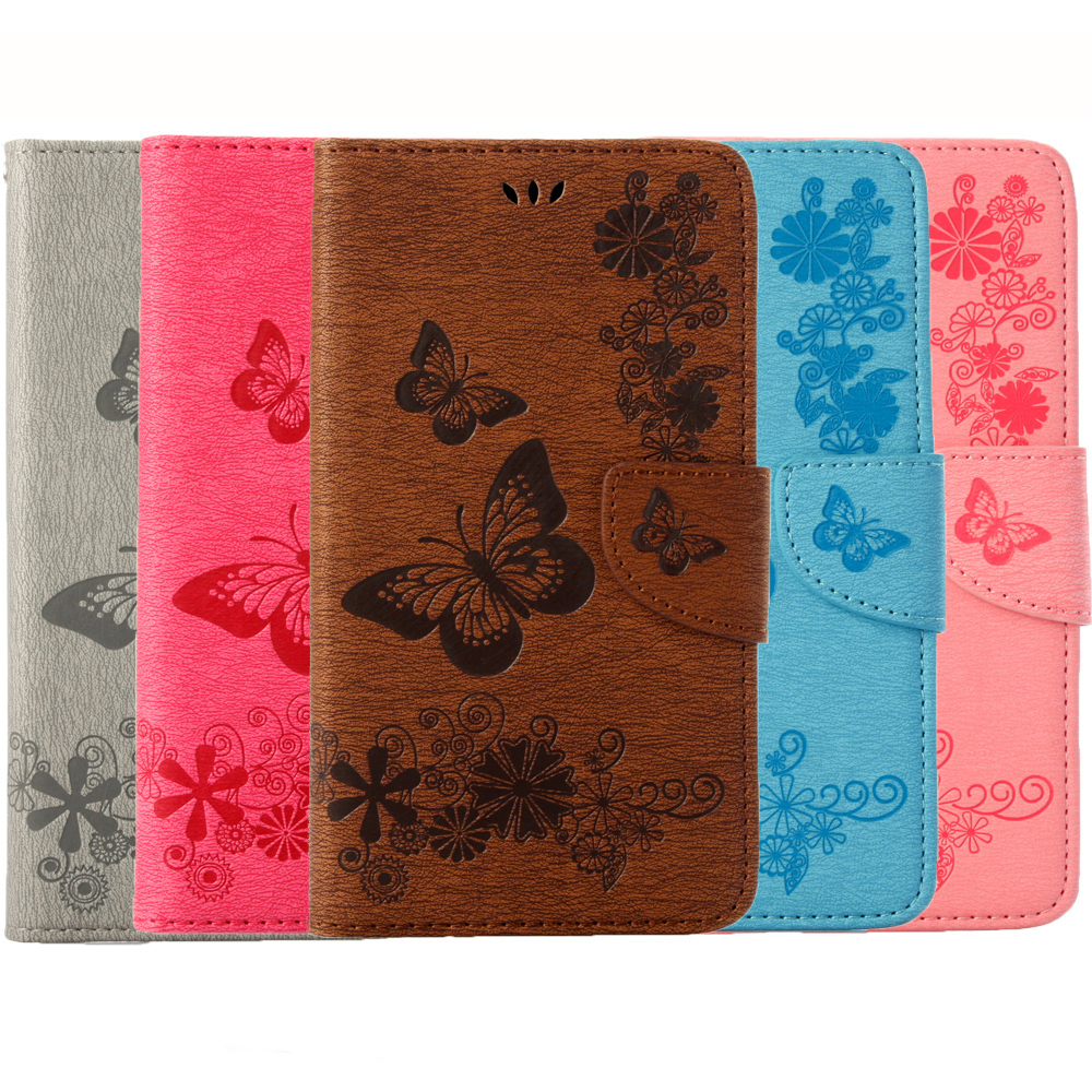 Beautiful Butterfly Flip Leather Cases Cover sFor Lenovo K6 5.0 Inch Phone Bags Wallet Coque with Stand Card Holder Function