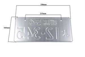 Image 5 - JDM יפני סגנון רישיון צלחת אלומיניום רישיון מספר רכב קישוט רישיון PlateFor אוניברסלי רכב