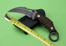 Beautiful G10 Handle Claw Knife Sonewashed 8Cr13 Tactical Fixed Blade Knife Wiht k sheath 1826#