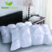 home supersoft white duck down pillow insert goose feather cervical neck pillow down on topper pillow inner sleeping pillow core