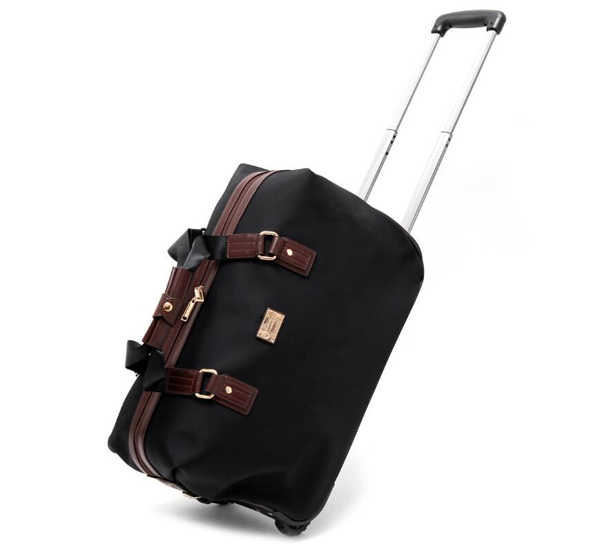 Travel trolley bag <font><b>20</b></font> Inch cabin size oxfor wheels bag <font><b>24</b></font> Inch women Rolling Luggage bags wheeled Bag Business baggage suitcase image