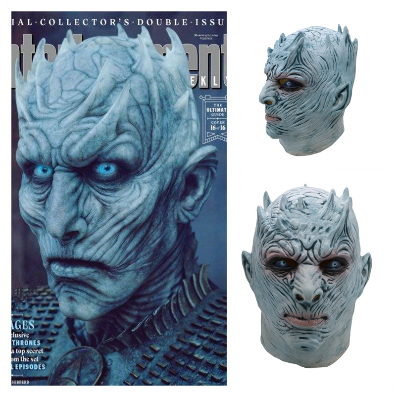 Back To Search Resultshome Cheap Price A Song Of Ice And Fire Game Of Thrones Cosplay Costume Nights King Full Head Helmet Latex Mask Halloween Costumes For Men Adult Cheapest Price From Our Site