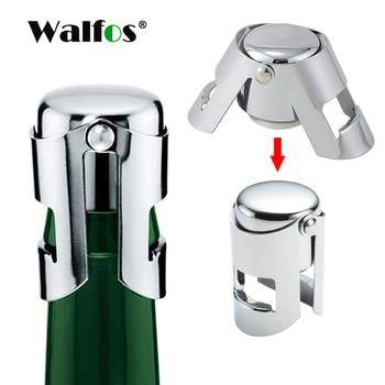 WALFOS 304 Stainless Steel Champagne Cork Portable Sealing Machine Bar Stopper Wine Sparkling Cap