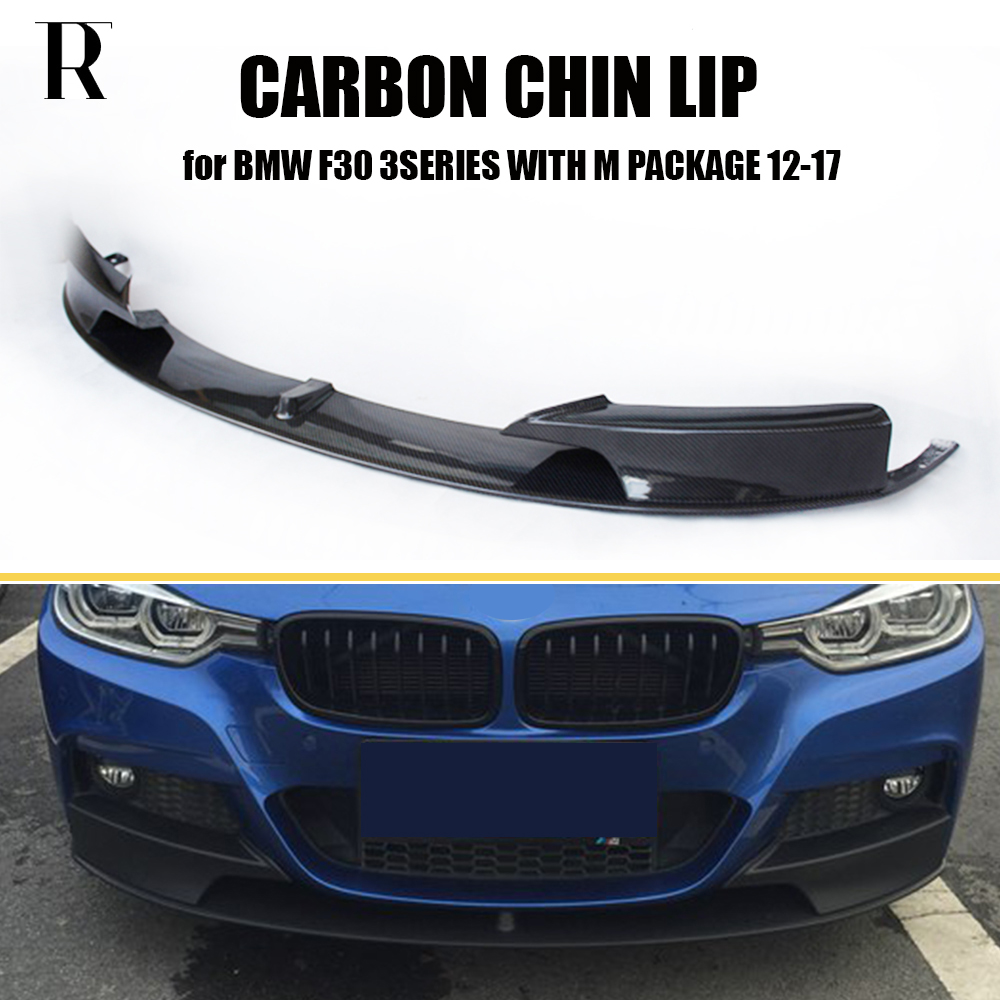 Bmwfort Package 3 Series: F30 P Style Carbon Fiber Front Bumper Lip Chin Spoiler For