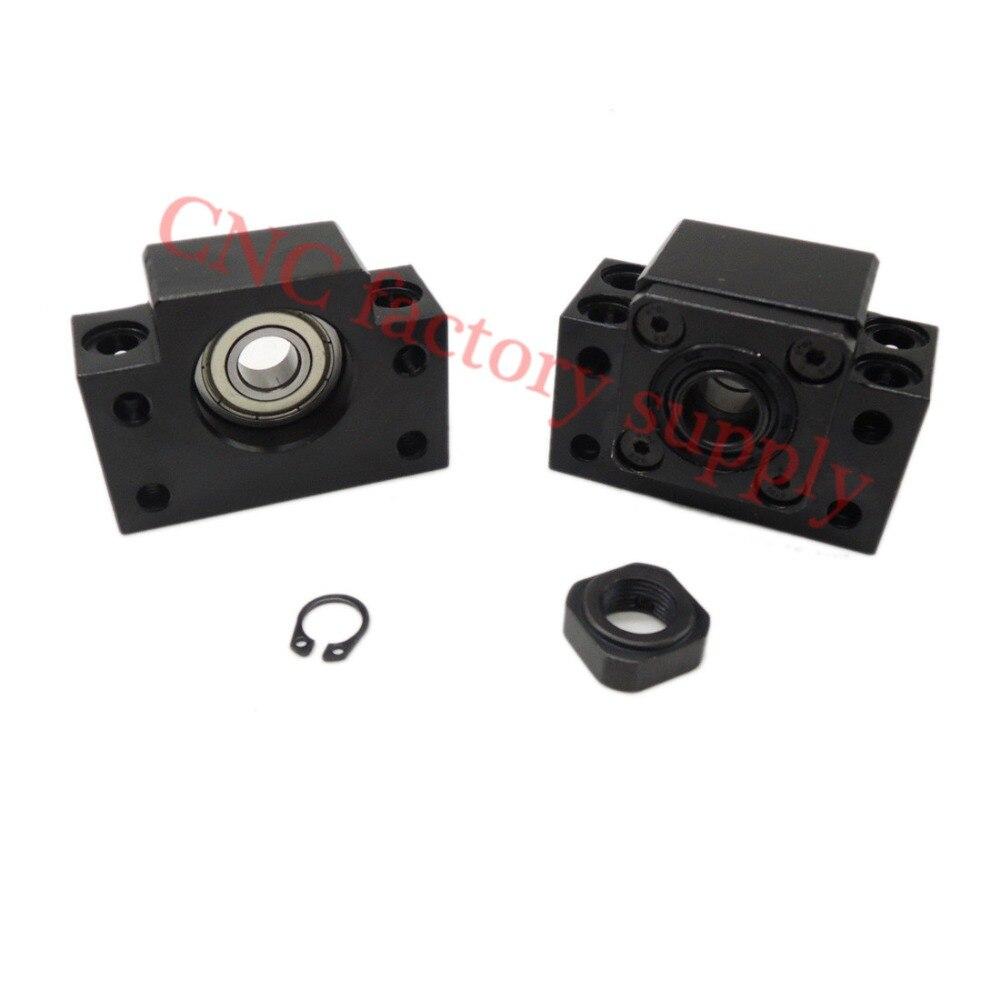 Ballscrew End Supports1pcs BK10 + 1pcs BF10 1204 ballscrew End Support CNC Parts for SFU1204