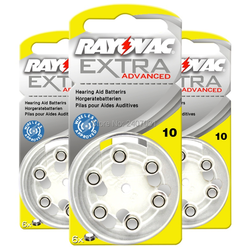 30PCS Rayovac Extra Performance Hearing Aid Batteries. Zinc Air 10/A10/PR536 Battery for CIC Hearing aids. Free Shipping!
