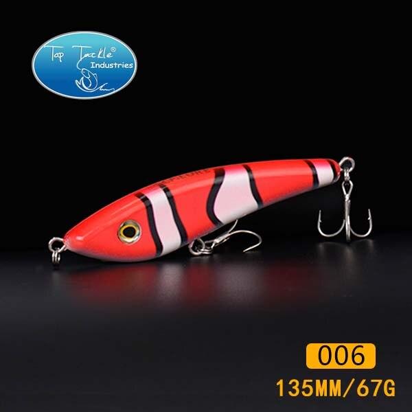 10 шт hunter рывок приманки( 140мм 70g, 160мм 85g, 180мм 150) рыболовную приманку владелец крючки - Цвет: 135mm 006