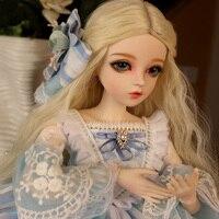 Полный комплект наивысшего качества 1/3 BJD Девушка 60 см ПВХ кукла парик одежда все включено ночь Лолита Reborn Baby Doll haixier лучший подарок для ребен