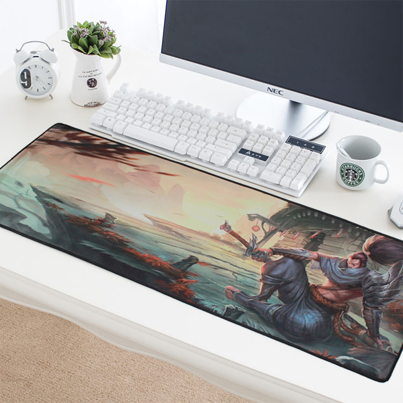 900x300x2mm large locking edge League of Legends gaming mouse pad non-slip mousepad to lol overwatch laptop mats for players