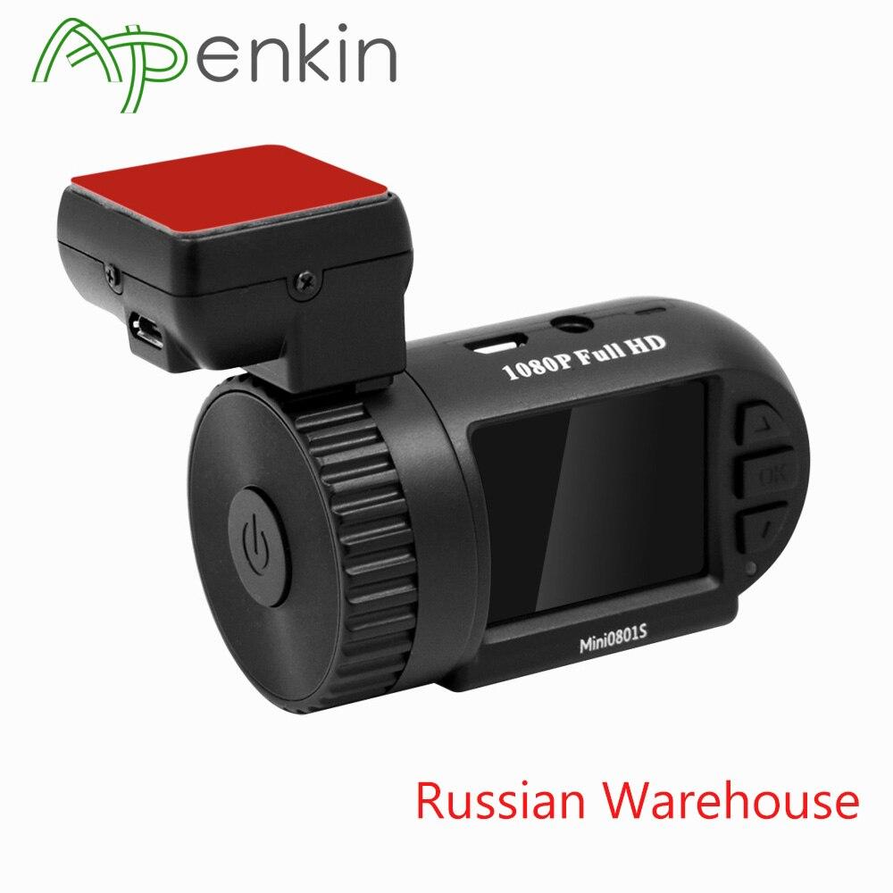 Arpenkin Mini 0801 S caméra de tableau de bord de voiture 1080 P 30fps H.264 WDR Protection basse tension Parking g-sensor GPS voiture enregistreur vidéo DVR