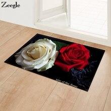 Zeegle дверные коврики для входной двери коврики с розами в прихожей напольные коврики противоскользящие ковры для спальни коврики для ванной кухонные коврики