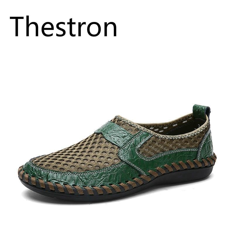 Shoes 46 on Occasionnels Homme 50 Chaussures Shoes brown 45 D'été Thestron Shoes Taille 2018 Sneakers 48 blue Respirant green Slip Plus Shoes La Hommes 47 Black 49 qUtwPxwYcS
