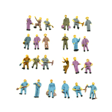 Free shipping 100pcs Painted Mixed Model Train Railway Worker People Figures 1:87 Scale