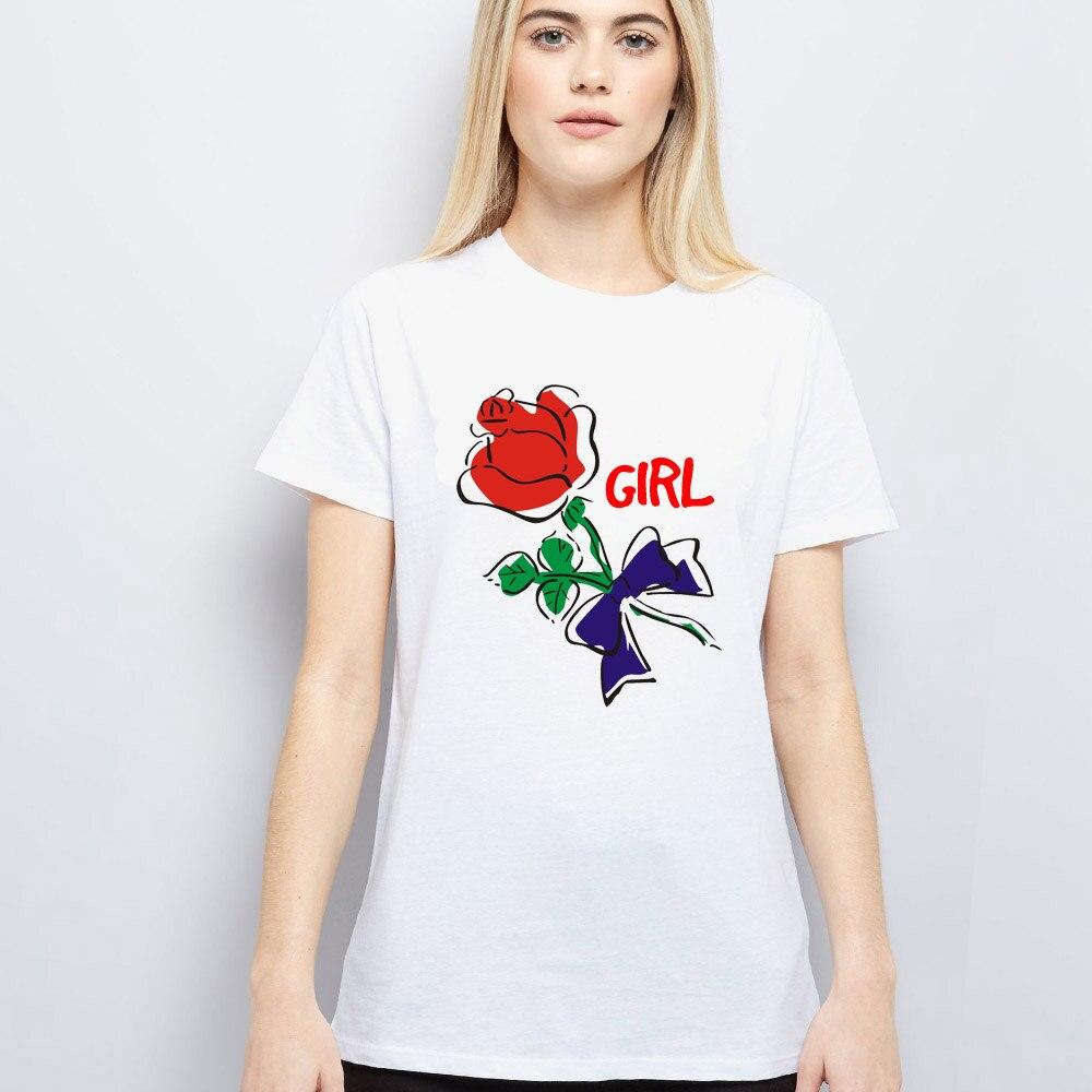 T shirt printing at white rose - Plus Size 6xl Women Fashion Print T Shirt 2017 Summer Short Sleeve O Neck Rose Floral Printed T Shirt Tee 5xl Xxxxl White Tops