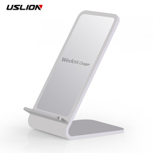 USLION QI Wireless Charger For iPhone X 8 For Samsung S8 Plus Note 8 S7 S6 Edge Fast Wireless Charging Docking Dock Station
