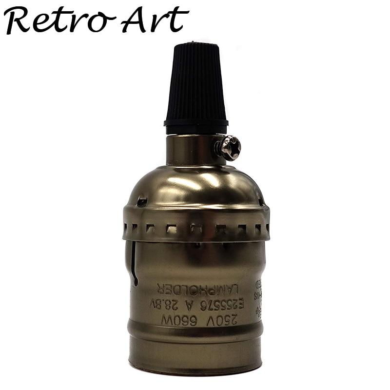 Aluminium E27 Vintage Bronze Color Lamp Holder Pendant Light Socket /110V/220V  Antique Edison Lamp Base