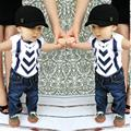 Newborn 2016 toddler baby boy clothing sets autumn short sleeve t-shirts + pants 2pcs black casual baby boy clothes sets