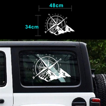 White car sticker compass Mountain Car Hood graphic Decal Auto Vinyl Sticker Universal