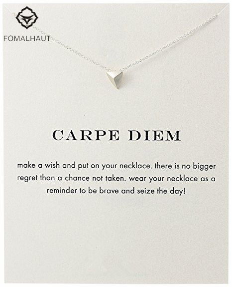 Sparkling Carpe Diem Pendant necklace Stud Clavicle Chains Statement Necklace For Women FOMALHAU Jewelry ...