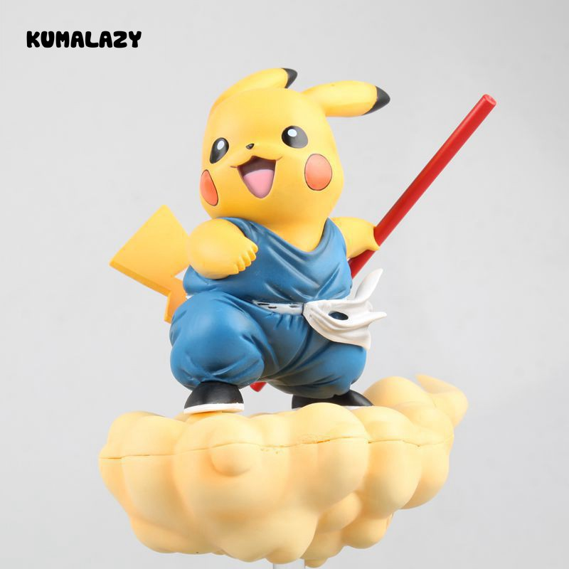 Dragon Ball Figure Son Gokou Cos Pikachu Comic DragonBallZ 15CM PVC Action Figure Toy Collection Model Gift cartoon cute pikachu bobble head car decoration doll pvc action figure collectible model toy 7 styles 15cm