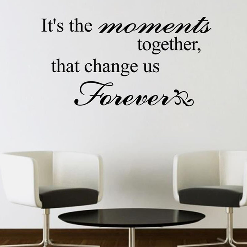 That Change Us Forever Living Room Simple Design Sentence Wall Mural Vinyl  Removable Home Decor Wall