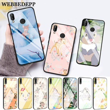 WEBBEDEPP lovely Bambi And Thumper Glass Case for Huawei P10 lite P20 Pro P30 P Smart honor 7A 8X 9 10 Y6 Mate 20
