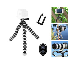 Discount! Large Size Octopus Tripod Flexible Selfie Tripod Gorillapod With Bluetooth Remote Shutter For Gopro Hero 4 3 Camera Mobile Phone
