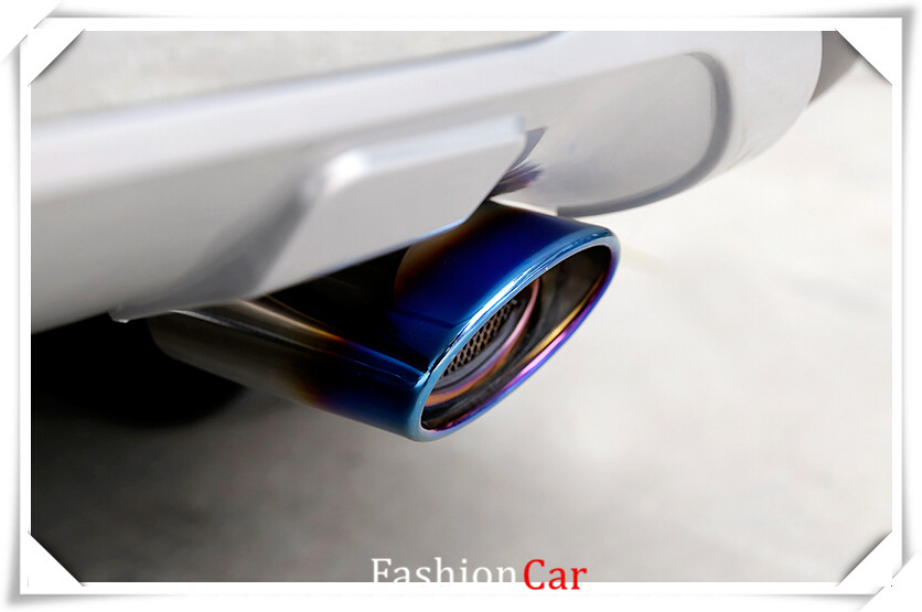 Stainless Rear Exhaust Muffler Tip End Pipe 1Pcs For Chevrolet Cruze 2009-2015