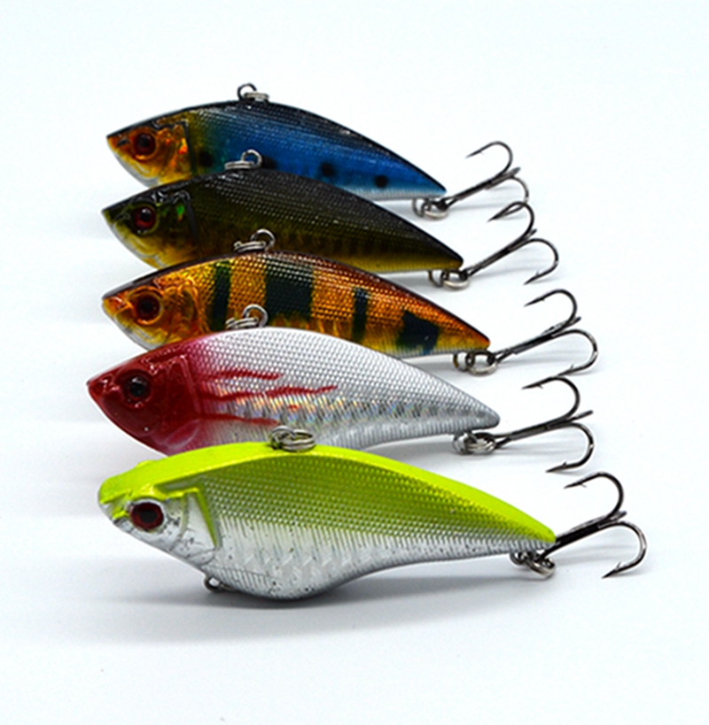 7cm / 2.76in 11g / 0.39oz Hard Fishing Lure VIB Rattlin Hook Fiske Sinking Vibra Rattlin Hooktion Lures Crank Baits # A8