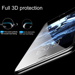 Image 2 - Baseus 3D szkło hartowane dla iPhone 8 7 6 6S Plus ochraniacz ekranu 0.23mm miękka krawędź PET pełna okładka przemyślany Film dla iPhone8
