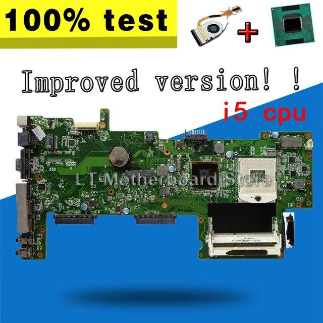 Versione migliorata!! Stabile!! Inviare i5 cpu + dissipatore di calore Per ASUS K72DR X72D K72DY K72DE A72D K72DR Mainboard laotop Scheda Madre