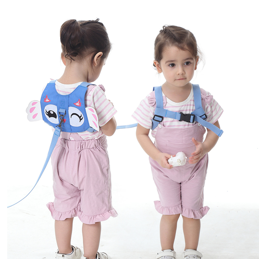 Child Toddler Anti-Lost Belt Harness Reins with Leash Strap Angel Wings Baby Saf