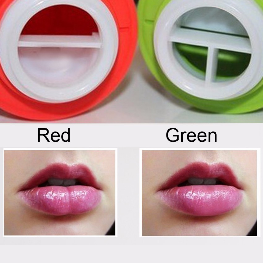 1PC Apple Shaped Green Or Red Sexy Lips Plumper Girl