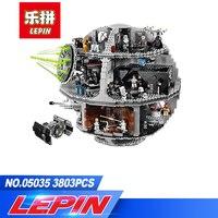 DHL Лепин 05035 шт. 3804 Star Wars Death Star Building Block кирпичи игрушечные лошадки наборы Совместимость с legoed 10188 детский подарок