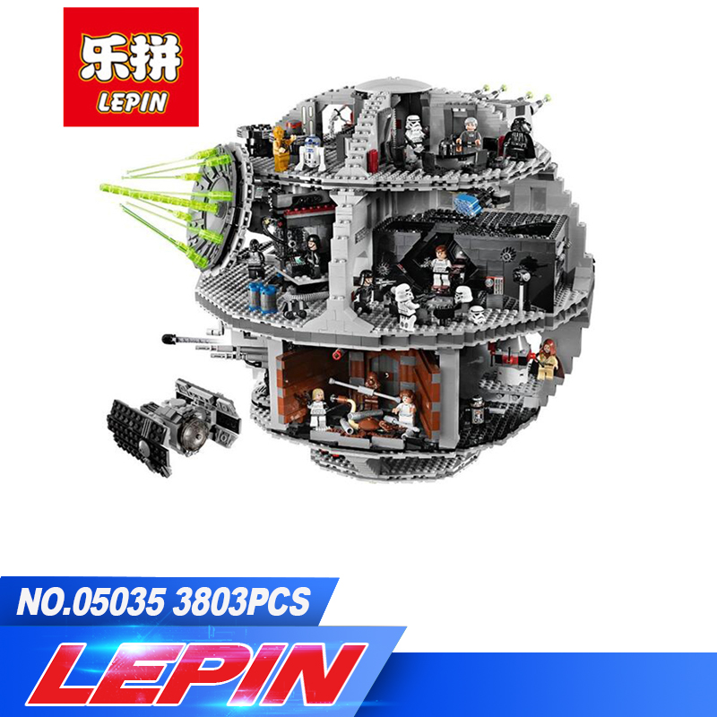 DHL Lepin 3804pcs 05035 Star Wars Death Star Building Block Bricks Toys Kits Compatible with legoed 10188 Child Gift bela 10464 star wars death star final duel bricks building block compatible with lepin