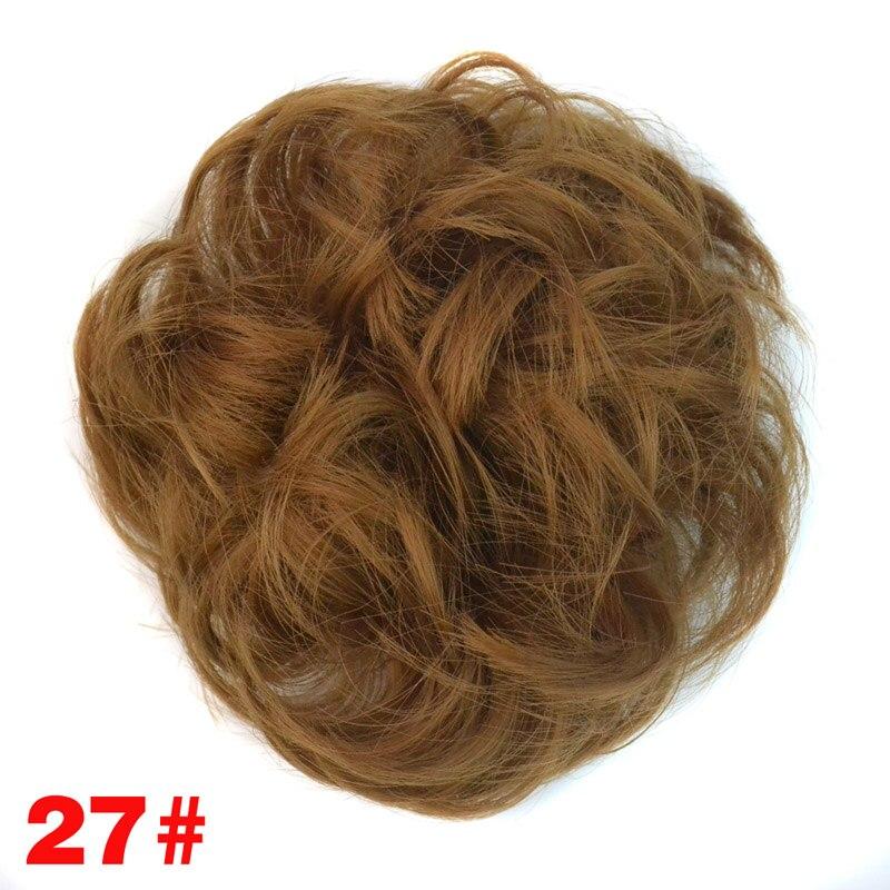 jeedou Curly Chignon Med Gummi Band Värmebeständighet Syntetisk - Syntetiskt hår - Foto 5