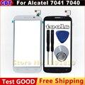 Tela de toque digitador de vidro para alcatel one touch pop c7 dupla 7040d 7040e 7041d 7040 + ferramenta + frete grátis