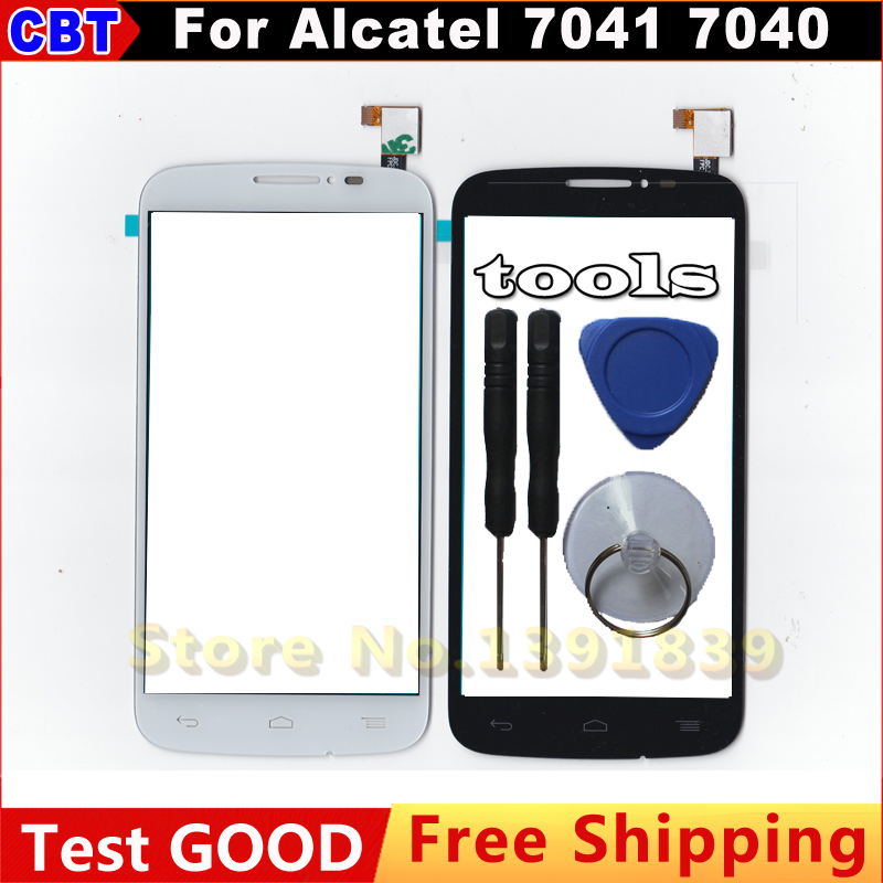 Touch Screen Digitizer Glass For Alcatel One Touch Pop C7 Dual 7040D 7040E 7041D 7040 + Tool + Free Shipping